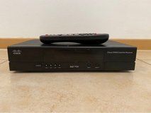 AFN Cisco HD satellite receiver decoder with all Cables and Remote in Ramstein, Germany