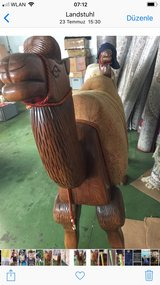 real wood camel in Ramstein, Germany