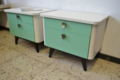 2 x Vintage 60`s Bedside dresser Shabby Nightstand Chest in Ramstein, Germany