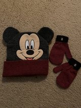 Mickey Mouse knit hat and mittens in Naperville, Illinois