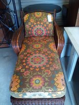 Wicker lounge chair with cushion. 221-25 in Camp Lejeune, North Carolina