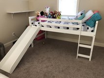 Twin size loft bed with mattress in Cherry Point, North Carolina