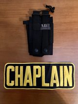 Chaplain Back Patch/ 511 radio or cell holster in Fort Polk, Louisiana