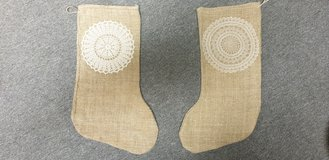 Vintage Christmas Stocking Grain Sack in Ramstein, Germany