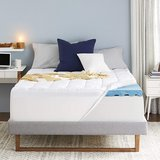 """Sleep Innovations 4"""" Dual Layer Gel Memory Foam Mattress Topper - New! in Naperville, Illinois"""