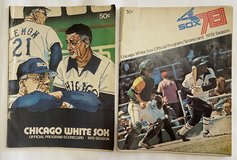 LOT of 2 Chicago White Sox Official Programs Scorcards from 1978 in Naperville, Illinois