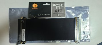 Premium PCI-E x16 3.0 Extender Riser Cable 200mm Graphic Cards Black in Okinawa, Japan