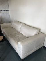 white leather couch in Okinawa, Japan