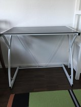 Table - glass top and metal frame in Ramstein, Germany