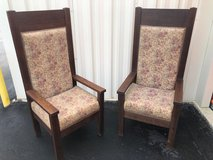 High Back Solid QTR Oak Chairs (2) in Cherry Point, North Carolina