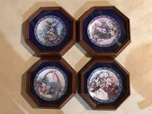 Floral Framed Collector Plates in Chicago, Illinois