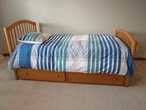 Solid and Great Looking Twin Size Bed in Naperville, Illinois