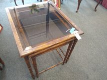 Double End Table with Glass Tops in Chicago, Illinois