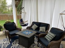 Wicker set with cushions in Naperville, Illinois