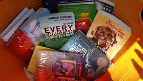 Lot of books in Spring, Texas