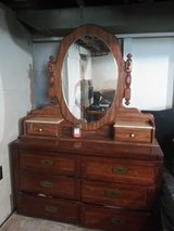 Dresser and mirror in Plainfield, Illinois