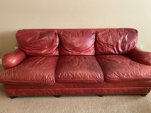 Italian Leather Sofa/Couch, chair and ottoman in Vista, California