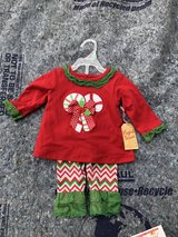 baby girl Christmas outfit in Fort Campbell, Kentucky