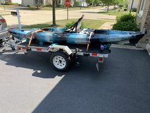 13 kayak and trailer in Chicago, Illinois