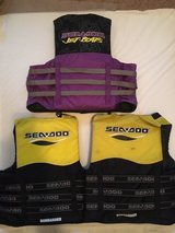 3 - Sea Doo Adult Life Jackets Boat Jet Ski Swimming Vest PFD in Beaufort, South Carolina