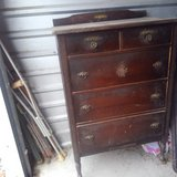 old wood dresser in Spring, Texas