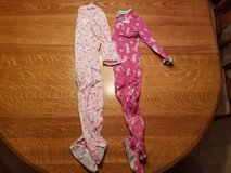 Size 5 girl's footed pajamas in Oswego, Illinois