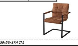 United Furniture - 6 Bogota Chairs in Cognac & Anthracite color including delivery in Ramstein, Germany