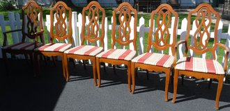 SALE PENDING - Set of 6 Dining Room Chairs - Project Piece - 4 side + 2 w/arms in Naperville, Illinois