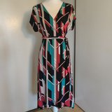 Stretch fabric wrap dress, like new! in Alamogordo, New Mexico