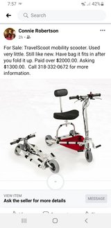 TravelScoot mobility scooter in Fort Polk, Louisiana