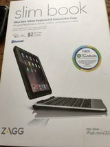Slim book keyboard with detached case for iPad mini in Aurora, Illinois