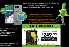 Switch Over to Cricket Wireless 6946 W CERMAK RD & GET a FREE LG FORTUNE 3 wne you swihtch over ... in Chicago, Illinois