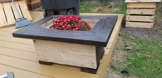 Repurposed Pine planter box in Spring, Texas
