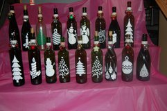 Lighted Decorative Christmas wine bottles in St. Charles, Illinois