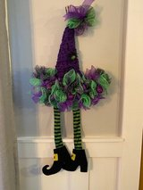 Halloween wreath witch's hat in Orland Park, Illinois