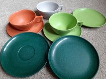 Vintage melamine dishes in Naperville, Illinois