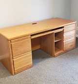 Solid Baker Road Oak Desk and Bookcase in Yorkville, Illinois