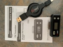 iPod or iPhone 4 Wireless FM Transmitter + Retractable Charging Cable in St. Charles, Illinois