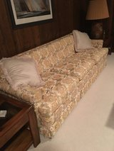 Large Yellow, Cream and Green Pattern Sofa in Algonquin, Illinois