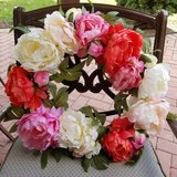 Pier 1 Imports Faux Floral Peony Decorative Wreath in Chicago, Illinois