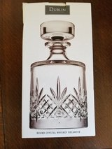 Lovely Round Crystal Whiskey Decanter/ NEW IN BOX in Beale AFB, California