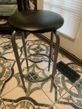 Desk stool black and silver in Chicago, Illinois