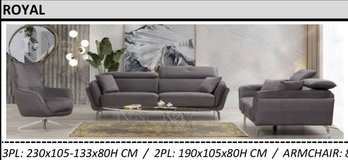 United Furniture - Royal - Sofa with electric function - Loveseat - Revolving 360 degree Chair in Stuttgart, GE