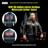 WWE Bill Goldberg Harley Davidson Motorcycle Leather Jacket in Houston, Texas