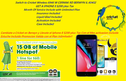 Cricket Wireless 6946 W CERMAK RD  Located On the Corner of Cermak & Home Ave Get Switch Over ge... in Aurora, Illinois
