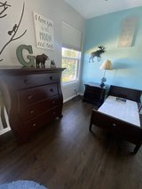Dresser , nightstand, toddler bed with mattress in Yorkville, Illinois