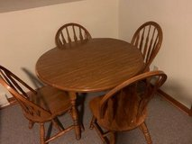 Solid wood drop leaf table  in Minooka, IL in Morris, Illinois