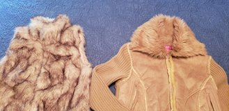 Girls 12/14 Faux Fur Vest, Suede Sweater Jacket See All Pix in St. Charles, Illinois