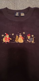 Girls Size 10/12 Christmas Winter Holiday Fleece Pullover See Pix in St. Charles, Illinois