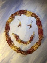 """Necklace/Bracelet/Earrings Ladies 49ers Football fans beautiful Red/Gold Guatemala 30"""" in Camp Pendleton, California"""